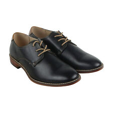 Steve Madden M-Chelan Mens Black Leather Casual Dress Lace Up Oxfords Shoes