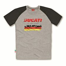 DUCATI T-SHIRT BANDIERA GERMANIA BANDIERA GERMANIA CAMICIA NUOVA 2015 ORIGINALE