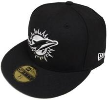 New Era NFL Miami Dolphins Black White 59fifty Fitted Cap Limited Edition New