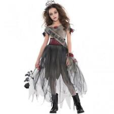 Girls Halloween Prombie Prom Queen Fancy Dress Costume