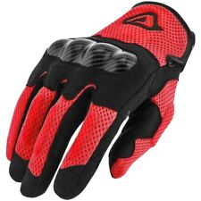 GUANTI ACERBIS RAMSEY MY VENTED GLOVES VARIE TAGLIE PER MOTO E SCOOTER ROSSO NER