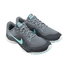 Nike Flex Trainer 6 Womens Gray Mesh Athletic Lace Up Training Shoes