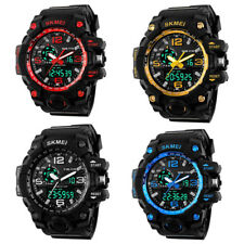 Army Military Waterproof Sport Men's LED Quartz Analog Digital Wrist Watch QW