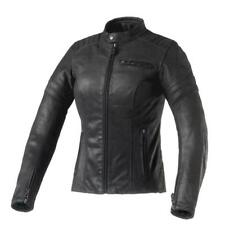 GIACCA MOTO DONNA CLOVER BULLET PRO LADY IN PELLE NERO 1802-N