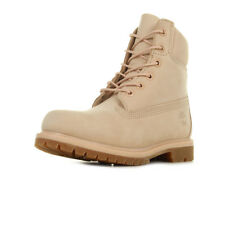 Chaussures Boots Timberland femme 6IN Premium Mono taille Rose Cuir Lacets
