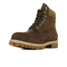 Chaussures Boots Timberland homme 6IN Premium Bt Dark brown taille Marron Nubuck
