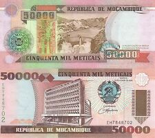 MULTI-VARIATION LISTING 3 denominations banknotes of Mozambique UNC