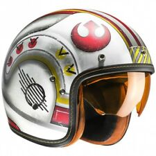 CASCO HJC FG-70s X-WING FIGHTER PILOT CUSTOM CAFE RACE SCRAMBLER MOTO MC1F