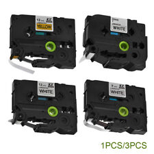 1x/3x 9mm/12mm/24mm Cassette Label Tape Cartridge Compatible for Brother P-Touch