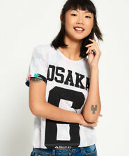 New Womens Superdry Osaka 6 Tropical Boxy T-Shirt Reverse Aop