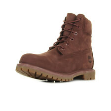 Chaussures Boots Timberland femme 6IN Premium Boot W Sable taille Bordeaux Cuir