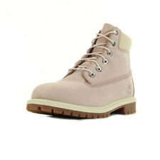 Chaussures Boots Timberland fille 6IN Premium Wp taille Rose Cuir Lacets