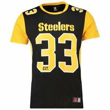 |MPS4655DB| T-Shirt Majestic – Nfl Pittsburgh Steelers Dene Poly Mesh nero/giall