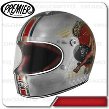 Casco Trophy Pin Up Old Style Silver Premier Integrale Cafe racer
