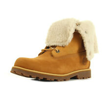 Chaussures Boots Timberland femme 6 In WP Shearling Bo Wheat taille Jaune Cuir