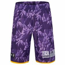 ADIDAS LOS ANGELES LAKERS FAN Wear Pantaloncini da basket Uomo XS S M L XL NBA
