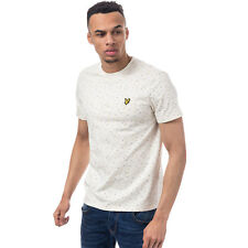 Mens Lyle & Scott Fil Coupe T-Shirt In Off White