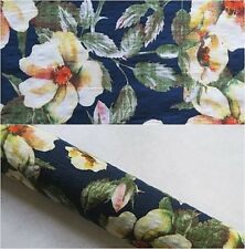 """Cotton & Rayon Floral Printed Fabric 146cm - 57.5"""" Wide"""