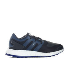 Mens Y-3 Pure Boost Trainers In Black Blue From Get The Label