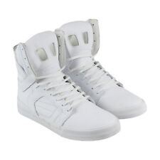 Supra Skytop Ii Mens White Leather High Top Lace Up Sneakers Shoes