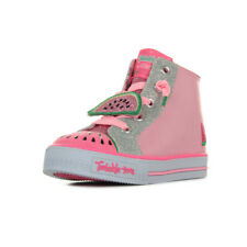 Chaussures Baskets Skechers fille S Lights Shuffles Patch Party taille Rose