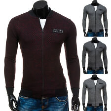 BOLF hommes pull PULL SWEAT VESTE COL MONTANT PULL Décontracté 1 A 1 motif