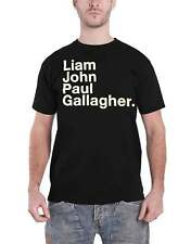 Liam Gallagher T Shirt LG Full Name Oasis as you were new Official Mens Black