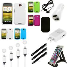 For HTC One S Rigid Plastic Hard Snap-On Case Phone Cover Charger