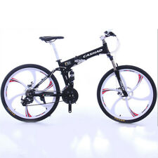 Folding Bike Mountain Bike Cycling 27 Speed 26 Inch/700CC SHIMANO Double Disc Br
