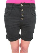 Jewelly by Lexxury Damen Baggy Boyfriend Stretch Bermuda Shorts Krempel Galon