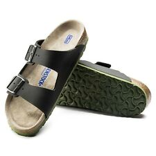 Birkenstock Arizona Soft bettung Sandals Normal Desert Soil Black NEW