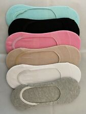 Breathable Anti Bacterial Moisture Absorbing Bamboo Liner Footsie Socks Size 4-7
