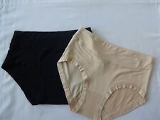 Black Cream Bamboo Antibacterial Moisture Absorbing Women's Briefs, Knickers X2