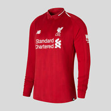 New Balance Mens Liverpool FC 18/19 Home Long Sleeve Football Shirt Red