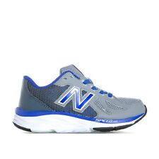 Children Boys New Balance 790 V6 Trainers Grey Blue Lace Injection Moulded