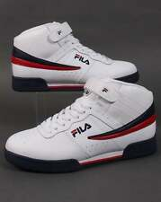 Fila Heritage F-13 Trainers in White - hi top basketball sneakers retro 80s 90s