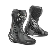 STIVALI TCX RT RACE WATERPROOF IN PELLE SPORTIVI DA PISTA RACING NERO MOTO