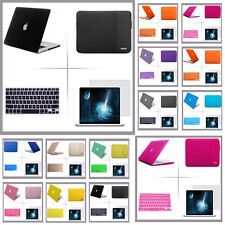 Rubberized hard case cover sleeve bag keyboard cover LCD Film For Apple Macbook