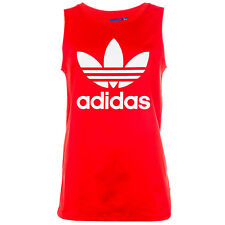 Womens adidas Originals Trefoil Tank Top In Core Red From Get The Label