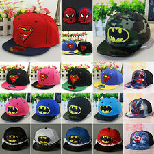 BAMBINI SUPERMAN FIANCO POP CAPPELLO BASEBALL batman spiderman BERRETTO