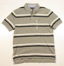 Tommy Hilfiger hombre Gris Heather Rayas Classic Fit Polo Camisa