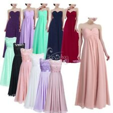 Women's Chiffon Bridesmaid Wedding Prom Gown Long Evening Formal Cocktail Dress