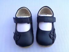 BOBUX STEP UP FIRST WALKERS DEEP MAYFLOWER NAVY LEATHER MARY JANE SHOES UK2/EU18