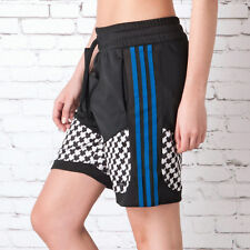 Womens adidas Originals Soccer Shorts In Black-Ribbed Waist-External