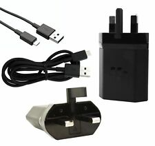 Genuine Blackberry RC-1500 UK Wall Fast Mains Charger Adapter & Data Cable Black