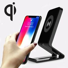For Apple iPhone X 8/8 Plus Fast Qi Wireless Charger Charging Stand Pad Dock