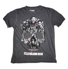 Official T Shirt The Walking Dead Charcoal Grey MONTAGE Skull Negan All Sizes