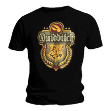 Official T Shirt HARRY POTTER Hogwarts Quidditch CREST Snitch