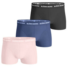 Bjorn Borg Mens 2018 Neon Solid Cotton Stretch Boxer Shorts 3 Pack 26% OFF RRP