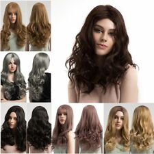 Women Long Hair Full Wig Natural Curly Wavy Hair Synthetic Cosplay Party Wigs HY